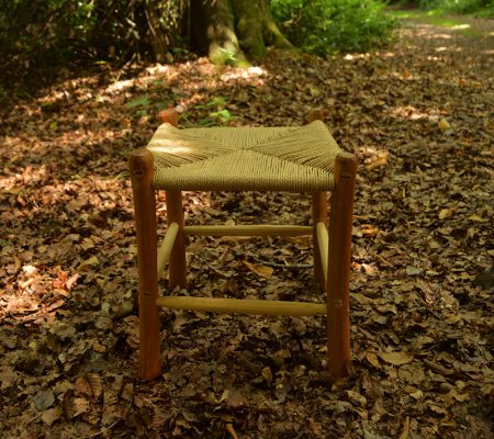 Green cherry and cord stool
